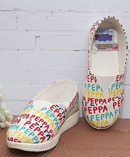 D'chica Printed Casual Shoes - White