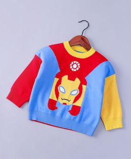 Pre Order - Awabox Printed Full Sleeves Sweater - Blue