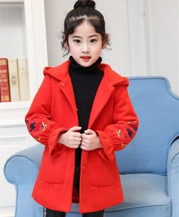 Pre Order - Awabox Sleeve Embroidered Coat - Red