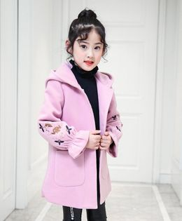 Pre Order - Awabox Sleeve Embroidered Coat - Pink