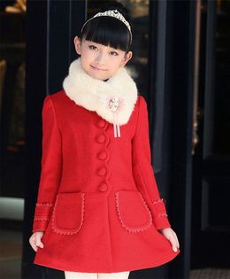 Pre Order - Awabox Solid Front Button Closure Coat - Red