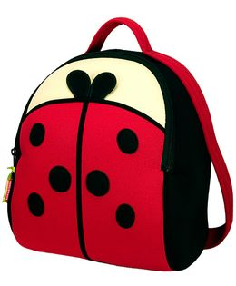 Elefantastik Lady Bug Backpack - Red And Black
