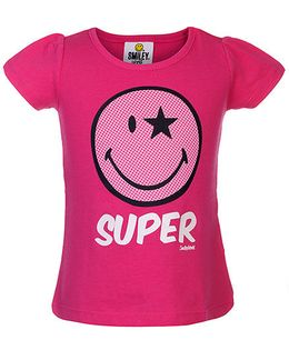 Fox Baby Half Sleeves T-Shirt Super Print - Fuchsia