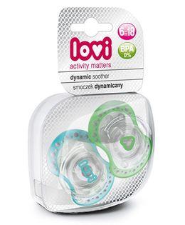 Lovi Pack of 2 Dynamic Soothers Spark - Blue Green