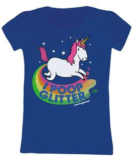 Toddler Tee Unicorn Print - Royal Blue