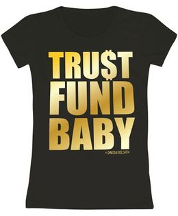 Toddler Tee Caption Print Trust Fund Baby - Black