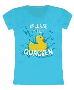 Toddler Top Chicken Print - Aqua
