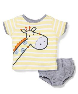 Boyz Wear by Nannette Giraffe Print Set - Yellow