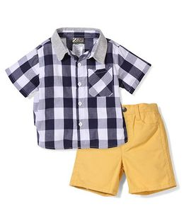 Boyz Wear By Nannette Set - Yellow & Navy