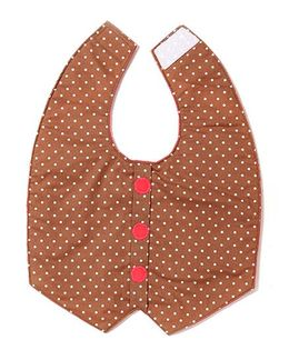 Funkie Baby Reversible Vest Bib - Brown