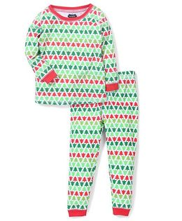 Mud pie Tree Printed Set - Green & Red