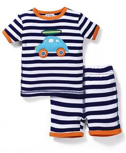 Mud Pie Car Design Set - Blue, White & Orange