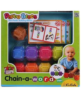 K's Kids Popbo Blocs Chain A Word - 9 Pieces