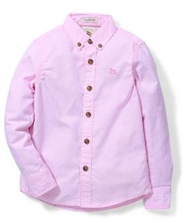 Police Zebra Juniors Full Sleeves Solid Shirt - Pink