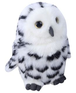Hamleys Owl Soft Toy - White and Black