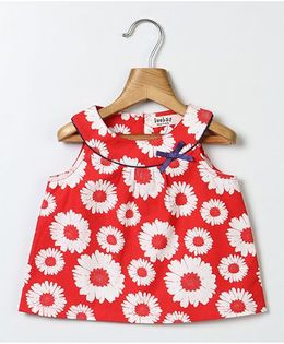 Beebay Sleeveless Top Floral Print - Red