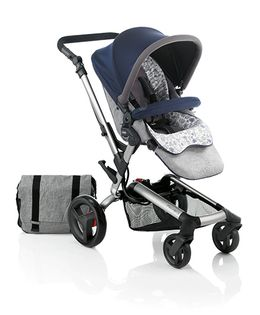 Jane Rider Pushchair With Mother Bag Rain Cover And Parasol Umbrella Blue Moon - 5317 R12