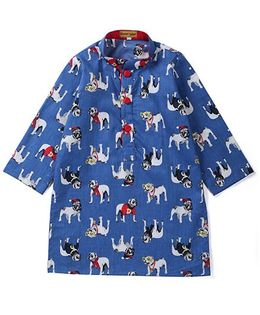 Shruti Jalan Dog Print Kurta - Blue