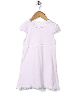 El Hogares Polka Dot Print Dress - Light Pink