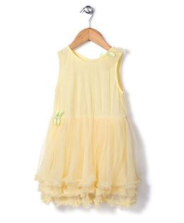 Candy Hearts Fit N Flare Party Dress - Yellow