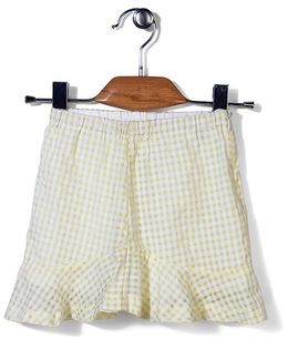 Candy Hearts Checks Skirt - Yellow