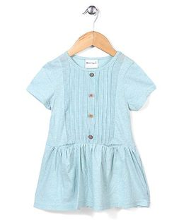 Candy Hearts Short Sleeve Dress - Blue