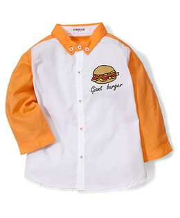 Kidsplanet Burger Print Shirt - Orange