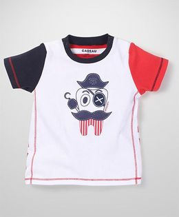 Kidsplanet Cartoon Print T-Shirt - White & Red