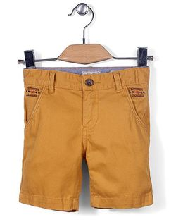 Police Zebra Junior Shorts - Yellow