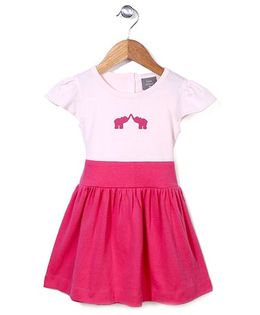 Kate Quinn Elephant Print Dress - Pink