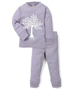 Kate Quinn Tree Print Night Suit - Grey
