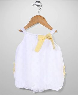 Sterling Baby Sleeveless Dress With Bow - White