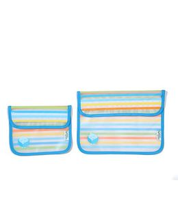 I Play Reusable Snack Bag Set Of 2 - Blue
