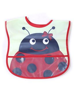 Lovespun Insect Print Bib - Red & Black