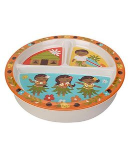 Sugar Booger Divided Suction Plate Girl & Boy Print  - Multicolour
