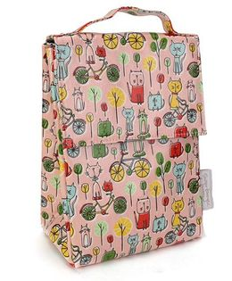 Sugar Booger Multic Print Classic Lunch Sack  - Light Pink