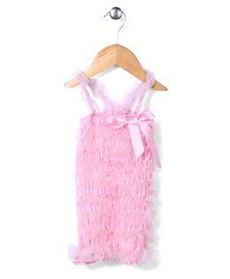 Wenchoice Pretty Ribbon & Ruffle Dress - Light Pink