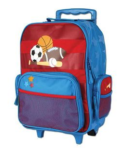 Stephen Joseph Luggage Bag Sports Design - Red And Blue