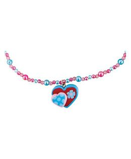 Stephen Joseph Necklace Heart Pendant - Pink