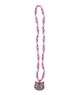 Stephen Joseph Necklace Cat Pendant - Pink