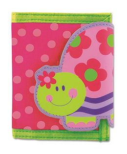 Stephen Joseph Wallet Turtle - Pink And Green