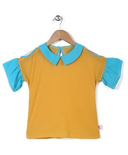 Chic Girls Sailor Neck Top - Yellow