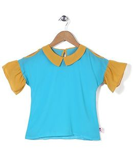 Chic Girls Sailor Neck Top - Blue