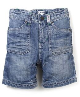 Enfant Denim Shorts - Light Blue