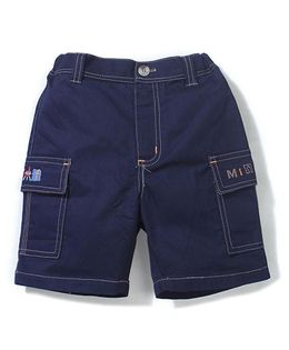 Enfant Miniboy Print Shorts - Navy Blue