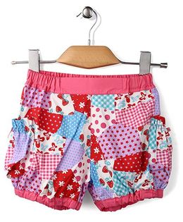 Enfant Multi Print Shorts - Pink
