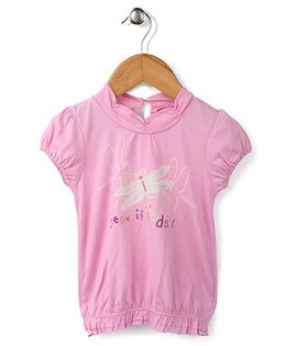 Enfant Beautiful Day Print Top - Pink