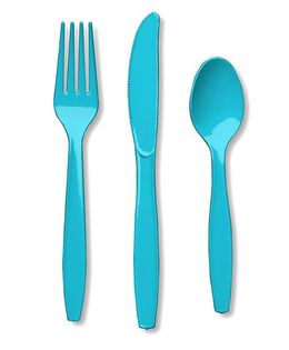 Charmed Celebrations Solid Colors Bermuda Assorted Cutlery - Blue
