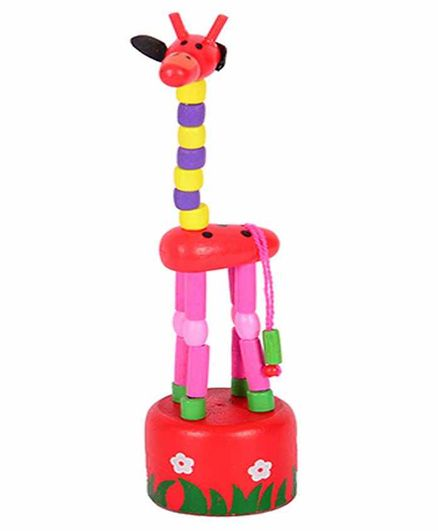 Upto 80% Off On Toys & Games By Firstcry | Desi Karigar Wooden Toy Giraffe (Colors May Vary) @ Rs.172.50