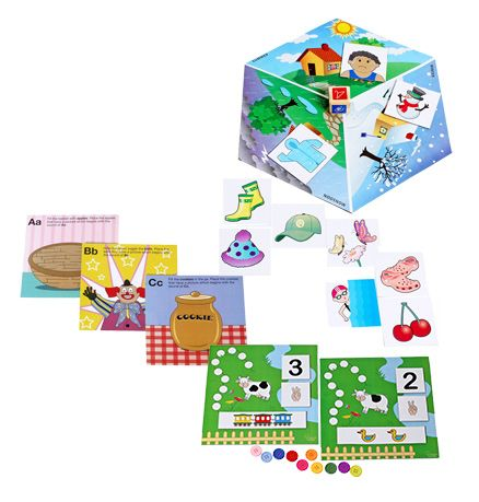 Clever Cubes Combo ( Spot Dots Puzzle with Phonic Match Puzzle & Weather Watch Puzzle)